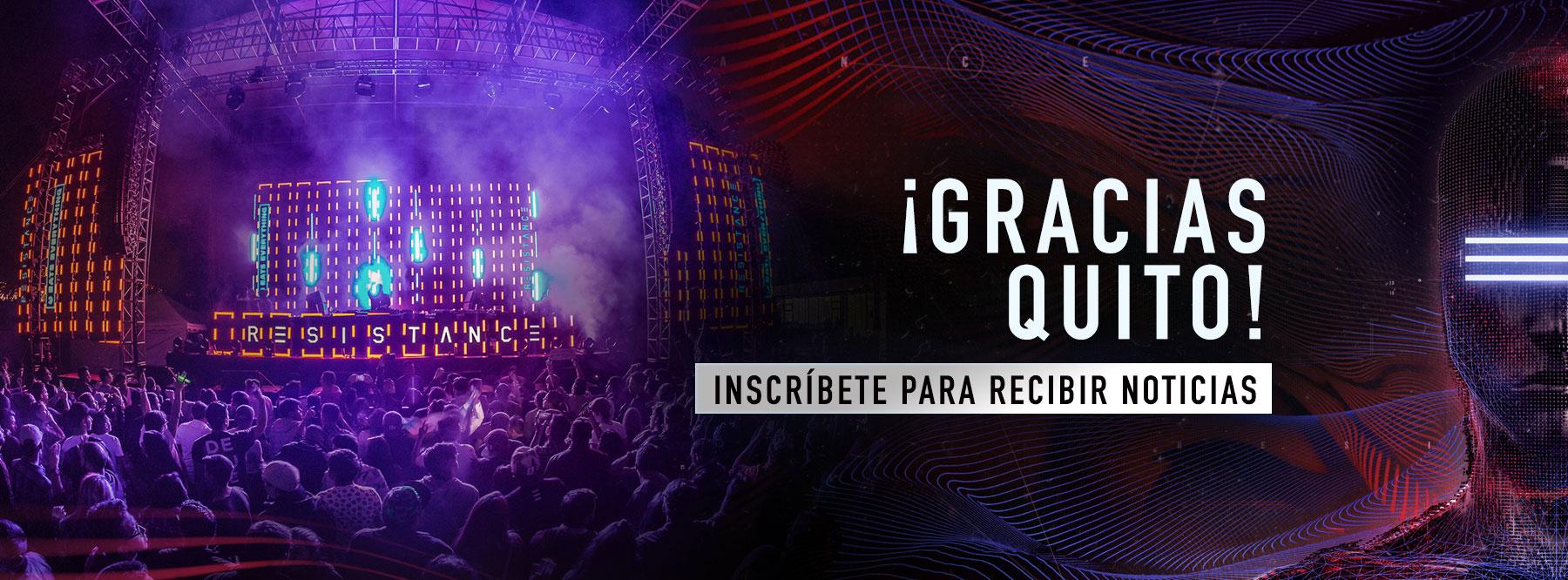 Suscríbete y Recibe Todas las Actualizaciones de RESISTANCE Quito